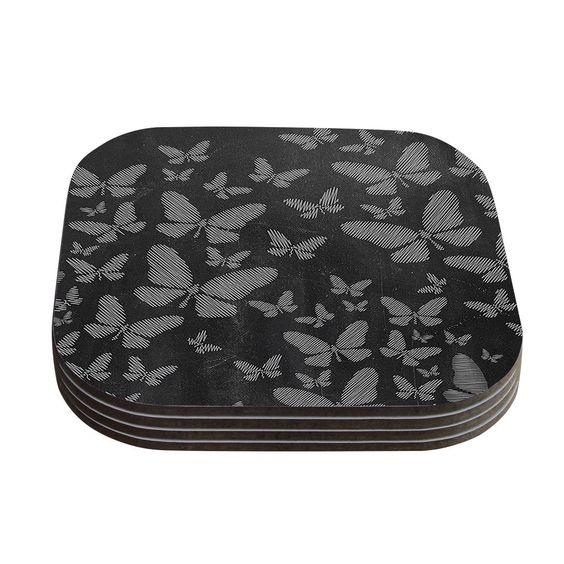 Butterflies Chalk Coaster