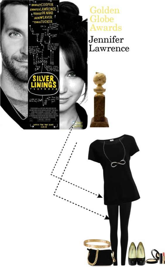 """Golden Globe Awards: Silver Linings Playbook"" by lollipopinheaven ❤ liked on Polyvore"