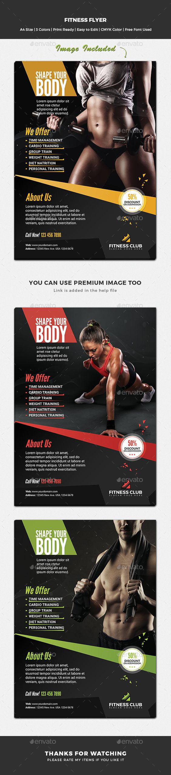 Fitness Flyer Template PSD. Download here: https://graphicriver.net/item/fitness-flyer/17493816?ref=ksioks