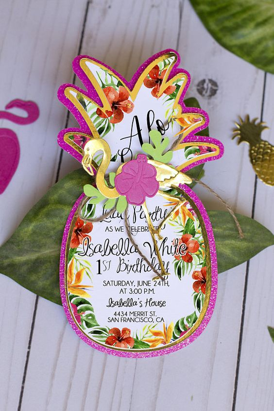Invitation ananas