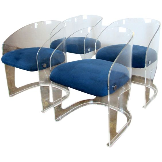 Set of Four Vladimir Kagan Lotus Chairs |