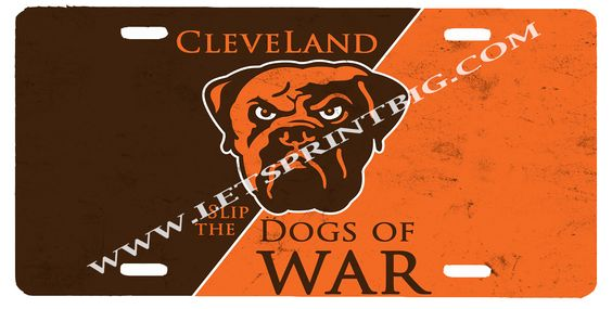 Cleveland Browns License Plate Car Tag