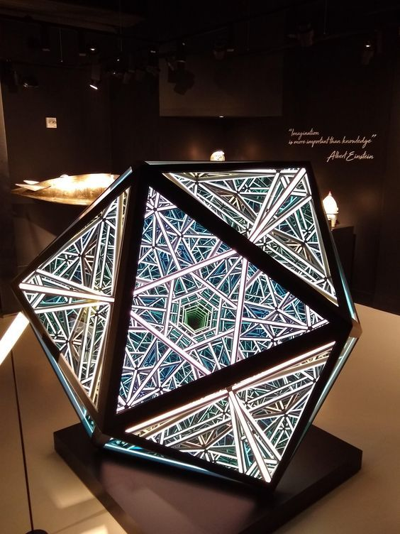 Photo Report: Infinity Mirror Dodecahedron Photozone - by ETERESHOP in 2021  | Light art installation, Infinity mirror, Infinity art