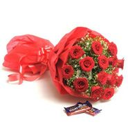 Roses With Chocolate For New Year