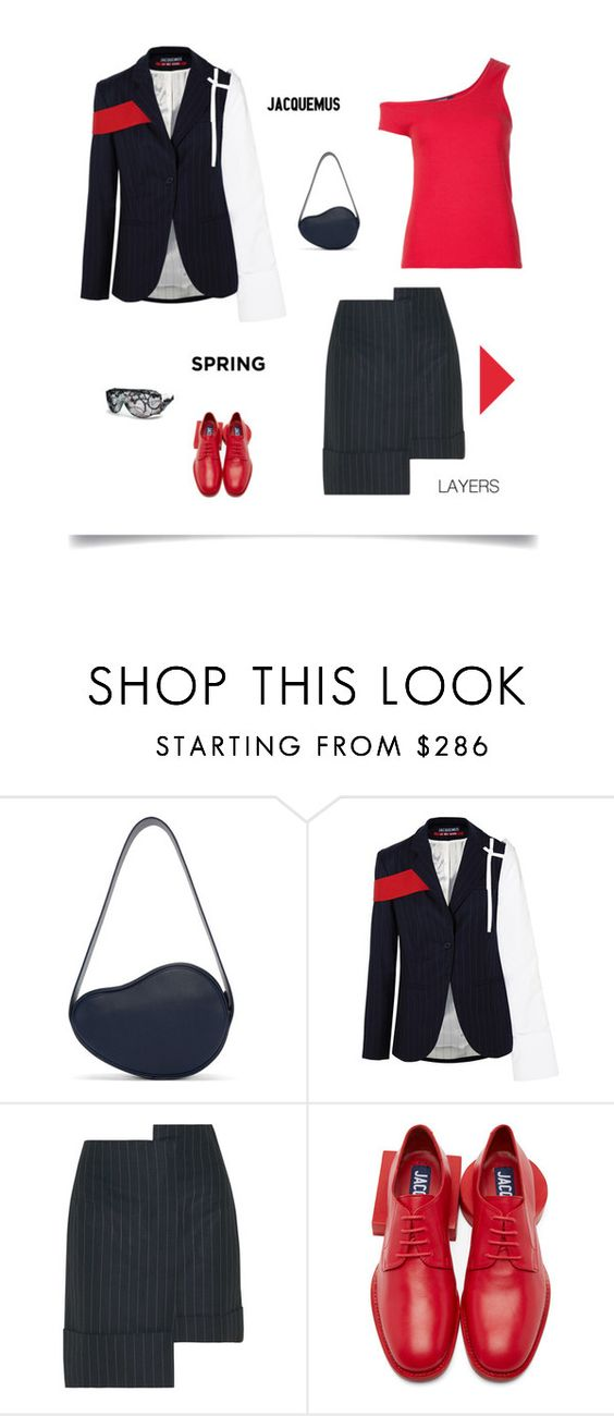 """Untitled #752"" by modernmoda ❤ liked on Polyvore featuring Jacquemus and A-Morir by Kerin Rose"