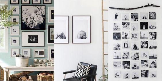 9 ideas para exhibir esas fotos especiales en casa