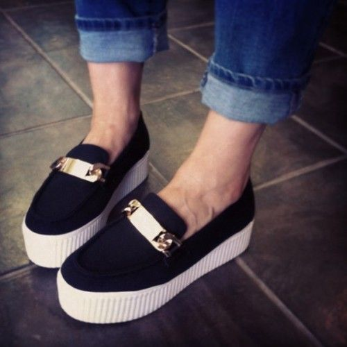 Platform Sneakers Black Canvas And Jeffrey Campbell On