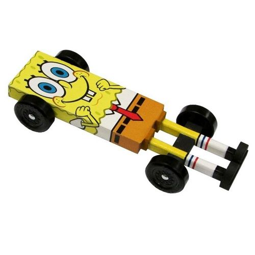 Spongebob Pinewood Derby Car Kit - Derby Monkey Garage Pinewood - pinewood derby template