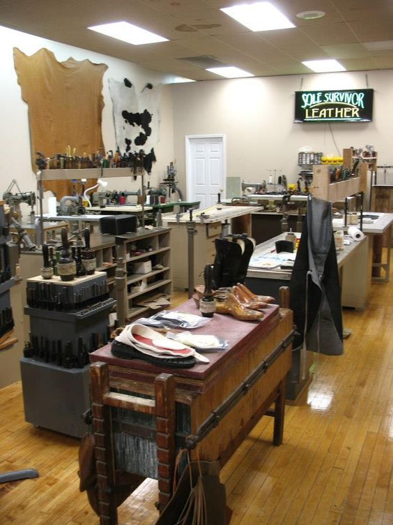 Another view of our workshop here at Sole Survivor Leather.