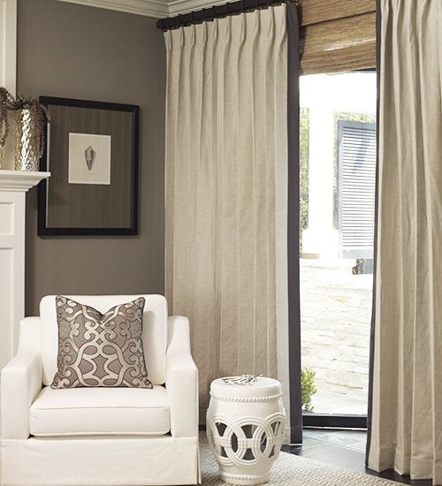 Curtains Ideas brown linen curtains : Belgian Estate Linen Custom Drapes | Grey, Roman and Search