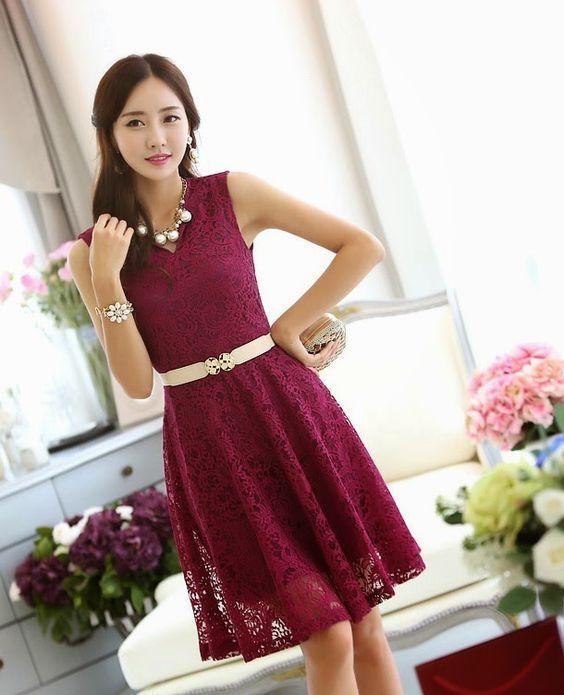 vestidos coreanos  elegantes sencillos - Buscar con Google