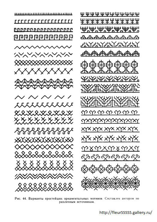 Russian embroidery patterns - I'm not sure this is the place for these but some of them might make interesting borders.