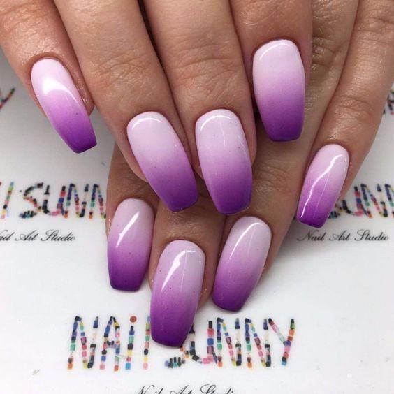 42 Pretty Matte Purple Ombre Nail Designs Purple Ombre Nails Ombre Nail Designs Purple Nail Designs