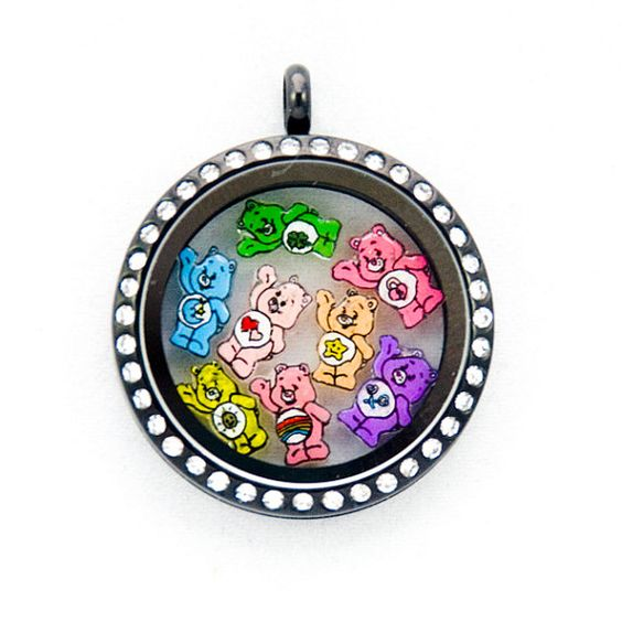 care bears floating charms by pandemoniumtreasures on etsy