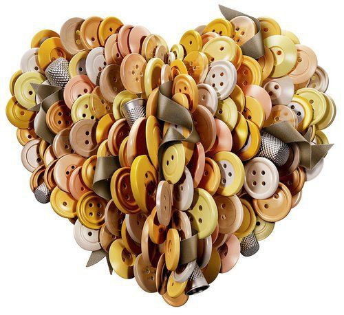 ButtonArtMuseum.com - button heart: