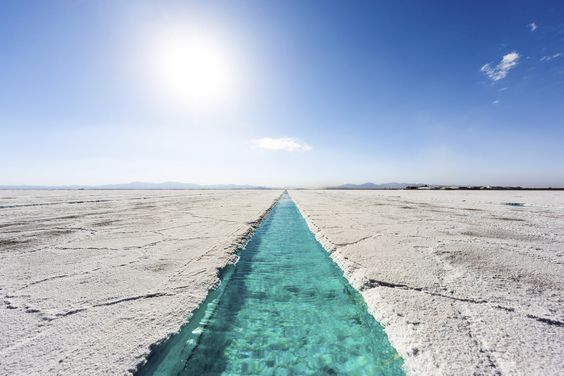 Salinas Grandes is a massive salt desert in Argentina. The field stretches 2,300 square miles and includes saltwater pools within its awe-inspiring expanse. (Photo: Shutterstock)  via @AOL_Lifestyle Read more: http://www.aol.com/article/2016/03/09/29-of-the-most-surreal-landscapes-on-the-planet/21325341/?a_dgi=aolshare_pinterest#fullscreen