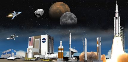 Imagine a spaceport of the future, where a variety of space vehicles are preparing for launch or departing Earth on missions to expand humanity's reach into space. The Ground Systems Development and Operations Program, formerly known as the 21st Century Ground Systems Program, is propelling this vision forward!  http://www.nasa.gov/exploration/systems/ground/index.html