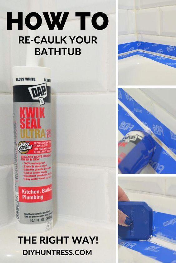 A Bathroom In The Tropics Diy Home Improvement Caulk Diy Home Repair