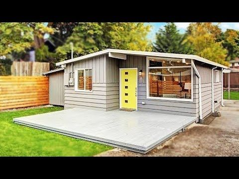 A 700 Sq Ft Seattle Modern Cottage Charming Small House Design Youtube Backyard Cottage Backyard Guest Houses Small House Design