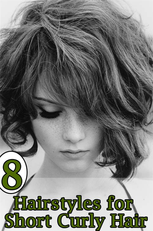 OH MY GOSH, this girl looks like Madi!  SHe would be cute with this style!  8 Hairstyles for Short Curly Hair