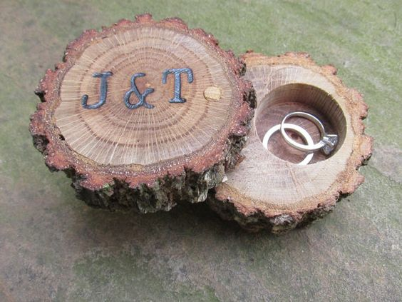 Oak Ring Box Wooden Ring Box Custom Ring by FeathersOfTheForest: