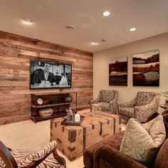 pallet board wall for one wall in basement...