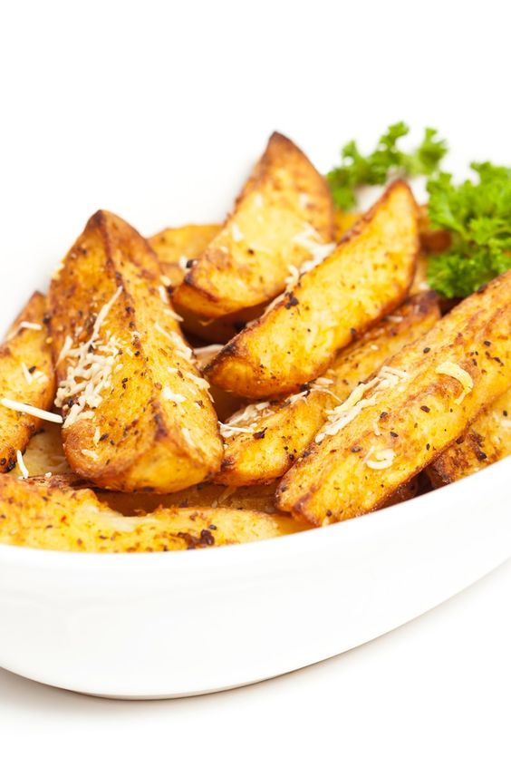 Parmesan potato wedges, Parmesan potatoes and Potato wedges recipe on ...