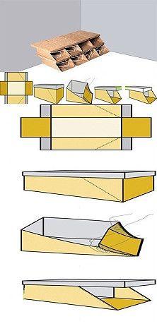 Reserva sapato caixa de sapatos tornando mais fácil!