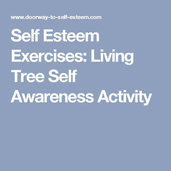 Self Esteem Self Awareness And Exercise On Pinterest