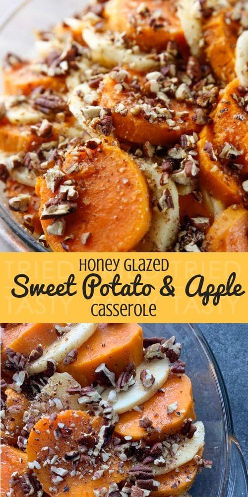 Honey Glazed Sweet Potato & Apple Casserole