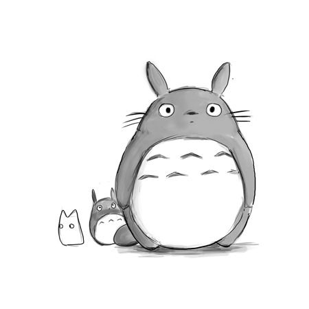 another cute totoro drawing! | Studo Ghibli :) | Pinterest ...