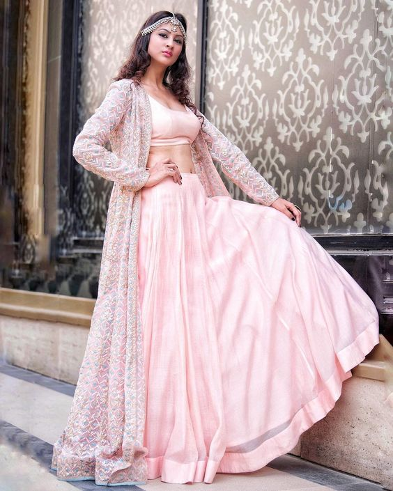 Indian Lehenga Choli Designs For Wedding Pink attire by Anita Dongre