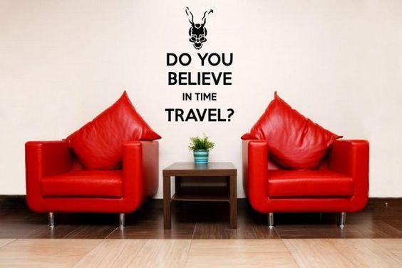 donnie darko decals   Do you believe in time travel?' - Donnie Darko Wall Decal