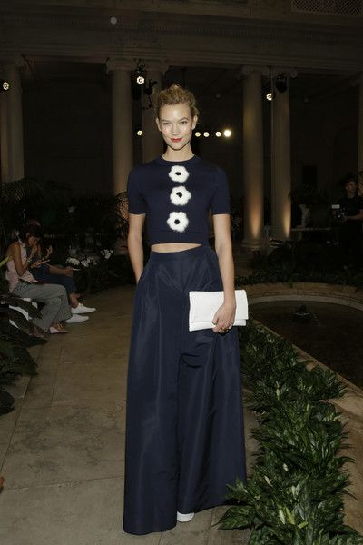 Karlie Kloss in Navy at Carolina Herrera - This Is What Celebs Wore to Sit Front Row at New York Fashion Week - Photos