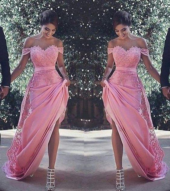 Vestido De Graduacion Color Rosa Palo Vestidos Vestido De