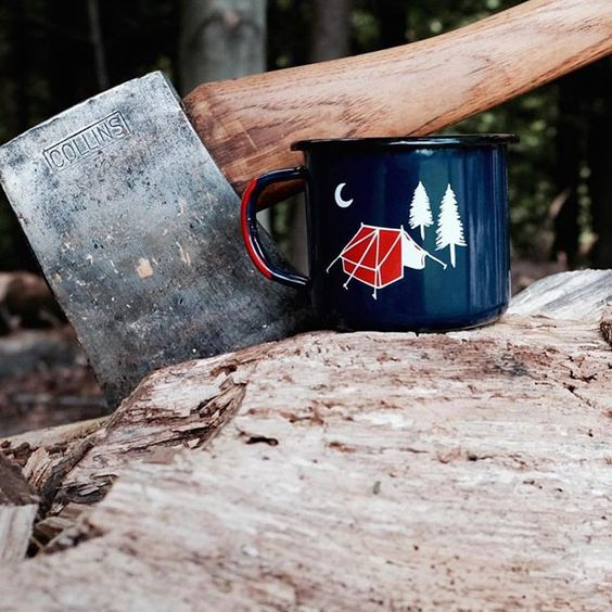Show of hands who wants to see these camp mugs come back?  We're working on bringing them back this winter. Shot from @lobodelnorte #papawolf #portsmouthnh by papawolfsupplyco