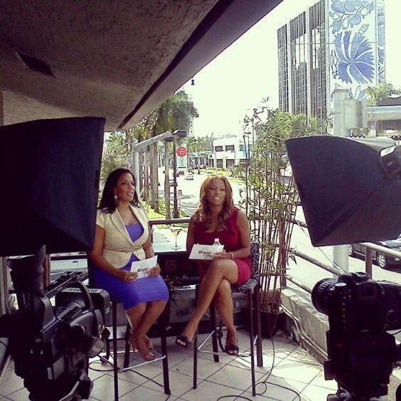 Miami Now TV shoot