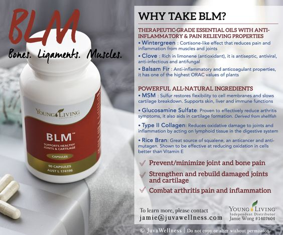 Young Living Essential Oils: BLM Bones Ligaments Muscles for Arthritis Bone Pain Inflammation