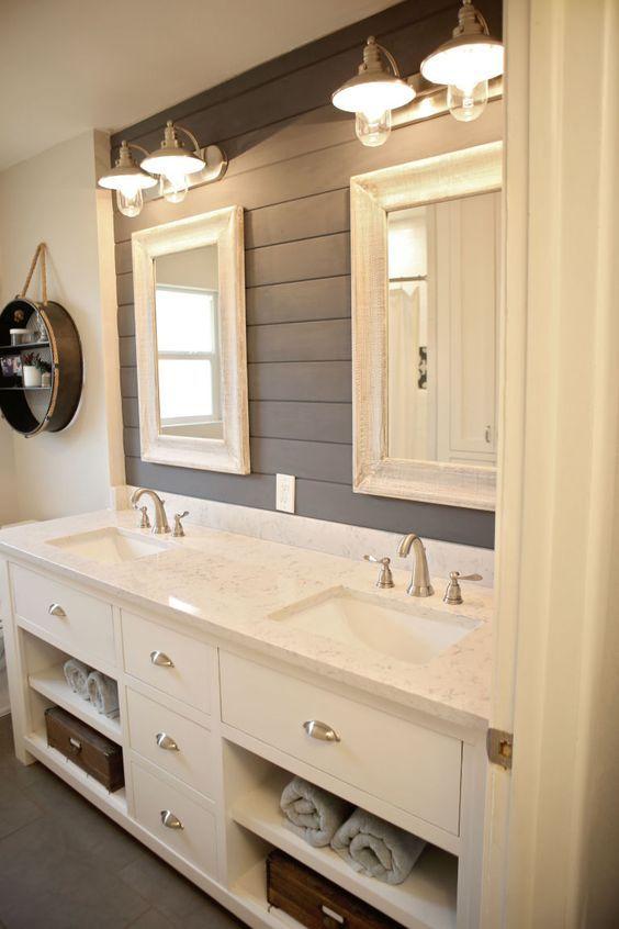 Best 25+ Farmhouse Bathrooms Ideas On Pinterest | Guest Bath, Bathroom  Shelves And Farmhouse Kids Mirrors