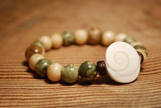 Earth Tones Semi Precious Gemstone Stretch by EmeraldCoastGems, $32.00  https://www.etsy.com/shop/EmeraldCoastGems