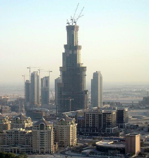 Burj Khalifa under construction in October 2006