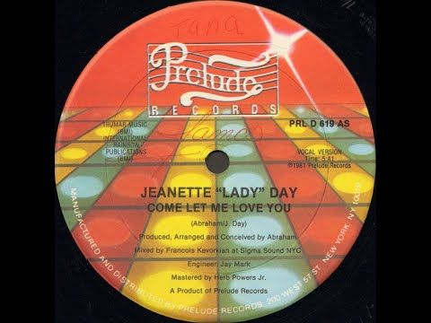 Jeanette Lady Day Come Let Me Love You Find A Way Re Edit Youtube In 2020 Let Me Love You Funk R B Music