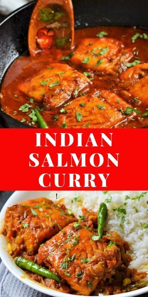 Indian Salmon Curry Recipe Indian Food Recipes Salmon Curry