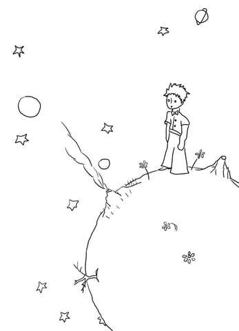 Coloriage Le Petit Prince Sur Son Asteroide Categories Le Petit Prince Coloriages Gratuits A Im Le Petit Prince Dessin Noir Et Blanc Tatouage Petit Prince