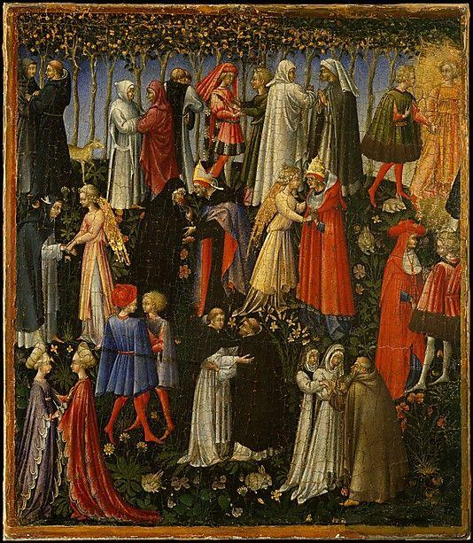 Paradise  Giovanni di Paolo (Giovanni di Paolo di Grazia)  (Italian, Siena 1398–1482 Siena)   Date:ca. 1445Medium:Tempera and gold on canvas, transferred from wood