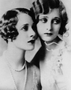 Dolores Costello with her sister Helene Costello: