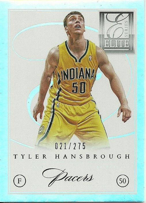 2012-13 ELITE SERIES #133 TYLER HANSBROUGH 21/275 PACERS 50 CENT SHIPPING…