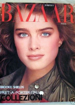... 1981 | Bazzaar Covers | Pinterest | Brooke shields, Bazaars and Italia