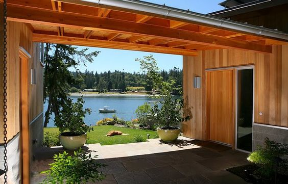 Breezeway of my someday lake house. Architect Marc LaRoche photo courtesy of The Bedlam of Beefy blog.  m