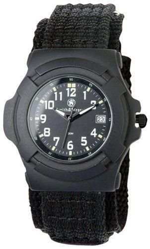 Amazon.com: Smith & Wesson Men's SWW-11B GLOW Lawman Black Nylon Strap Watch: Watches